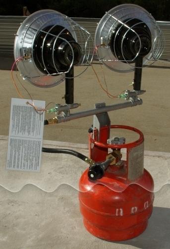 Портативная газовая инфракрасная печь elekon power pg3b