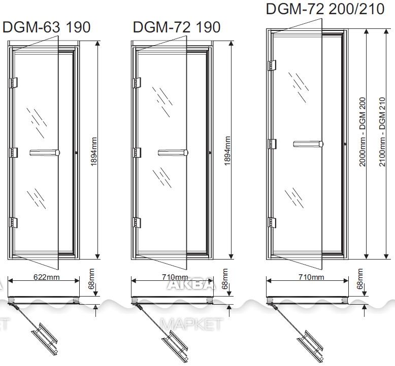 Как установить стеклянную дверь в бане