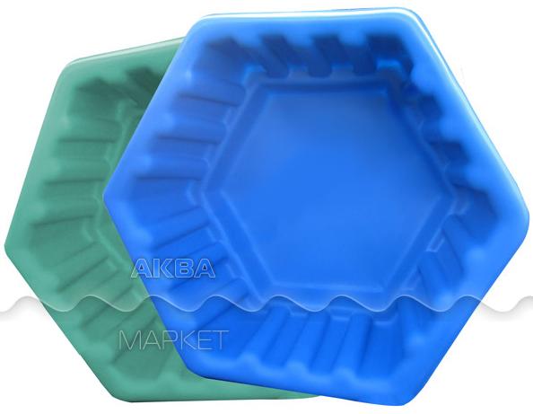 Клумба для пруда Centerplast малая 500х500х260 мм, синяя.